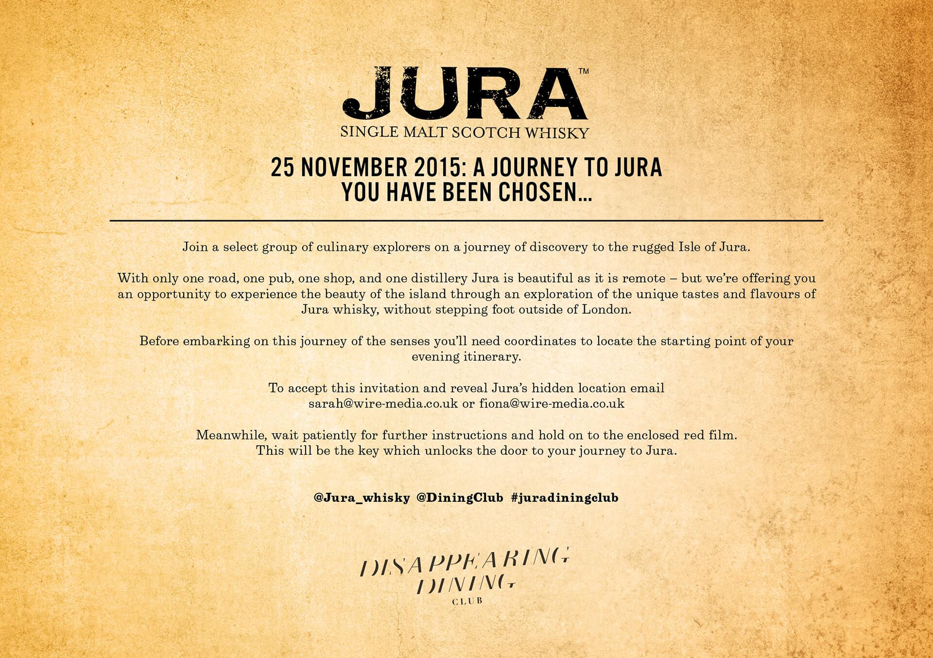Journey to Jura